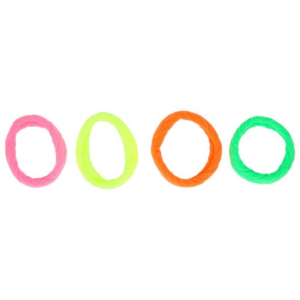 Haargummi-Set - Neon Bang