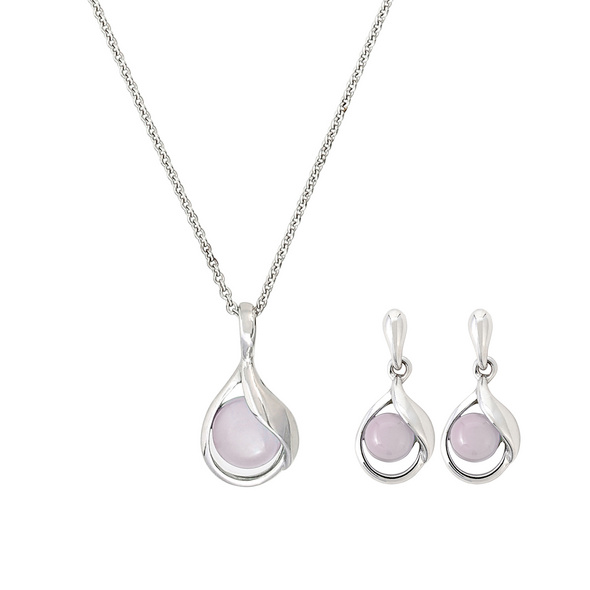 Schmuckset - Rose Quartz