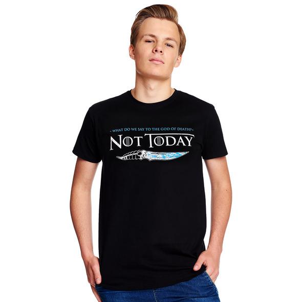 Not Today T-Shirt für Game of Thrones Fans schwarz
