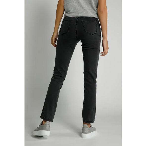 Jeans Julia, Spitzendruck, Ziersteine, schmale Form