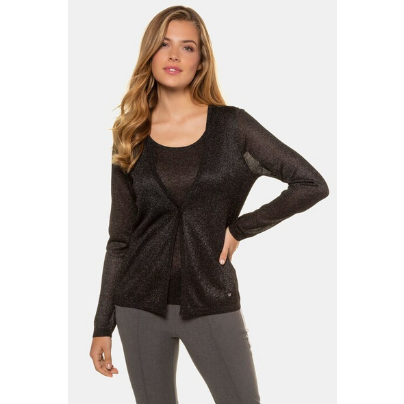 Gina Laura Twinset-Pullover, Metallic-Effekt, 2-in-1-Optik