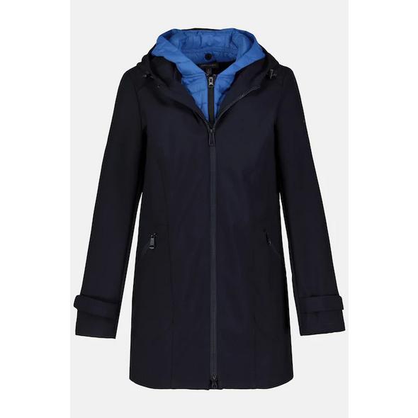 Softshell-Jacke, Wasserabweisend, Kapuzenwesten-Einsatz