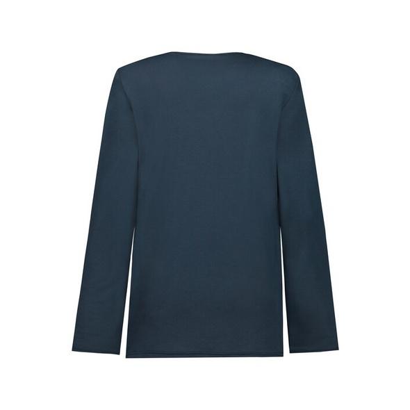 Shirt, vorne gemustert, V-Ausschnitt, Langarm