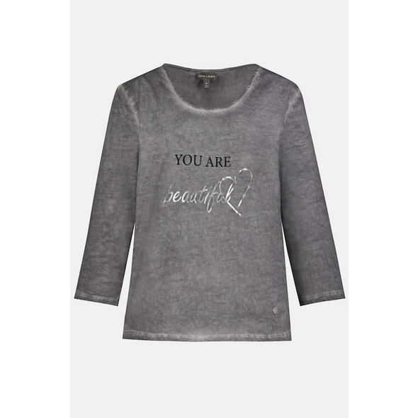 Gina Laura Shirt, Motiv YOU ARE BEAUTIFUL, cool dyed, 3/4-Arm