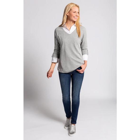 Sweatshirt, Rippenstruktur, Oversized, 3/4-Arm