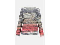 Shirt, Aquarell-Streifen, leicht oversized, Langarm