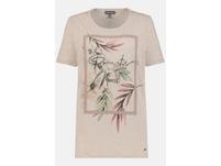 T-Shirt, Blätter, Schriftmotiv, Viskose