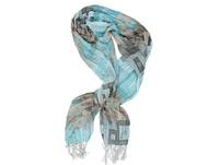 Schal, 3D-Struktur, Grafikmuster, Fransen