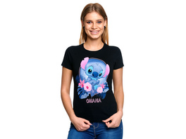 Lilo & Stitch - Ohana T-Shirt Damen schwarz