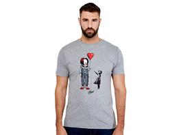 Pennywise mit Herz Ballon T-Shirt für Stephen Kings ES Fans
