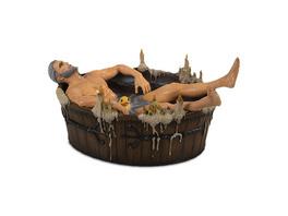 Witcher - Geralt von Riva in Badewanne Statue