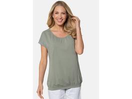Gina Laura T-Shirt, Ziernähte, Oversized, elastischer Saum