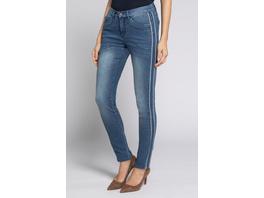 Jeans Julia, Galonstreifen, schmale 5-Pocket-Form