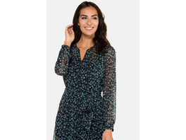 Gina Laura Blusenkleid, geblümter Chiffon, Jersey-Unterkleid
