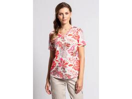 Gina Laura T-Shirt, Palmblätter-Muster, Ausbrennerjersey