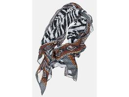 Gina Laura Schal Identity, Zebra/Musterkanten, Modal-Qualität