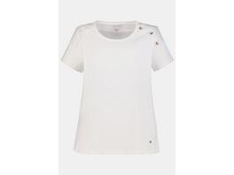 Gina Laura T-Shirt, Schulter-Zierknöpfe, Biobaumwolle