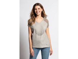T-Shirt, glitzernder Kreis, cold dyed